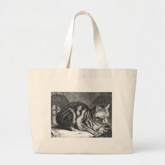 The Sleeping Cat Artwork Canvas Bag