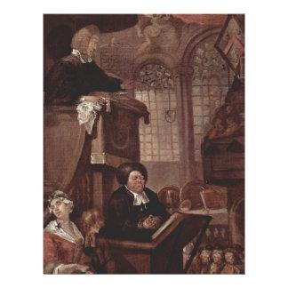 The sleeping church by William Hogarth Letterhead