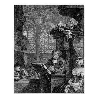 The Sleeping Congregation, 1736 Poster