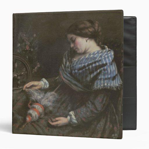 The Sleeping Embroiderer, 1853 Vinyl Binder
