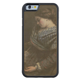 The Sleeping Embroiderer, 1853 Carved Maple iPhone 6 Bumper Case