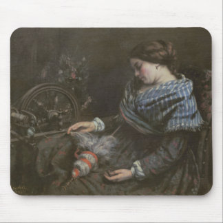 The Sleeping Embroiderer, 1853 Mouse Pad
