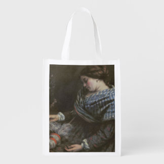 The Sleeping Embroiderer, 1853 Grocery Bag
