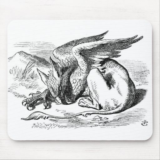 The Sleeping Gryphon Mouse Pads
