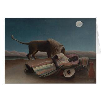 The Sleeping Gypsy by Henri Rousseau Card