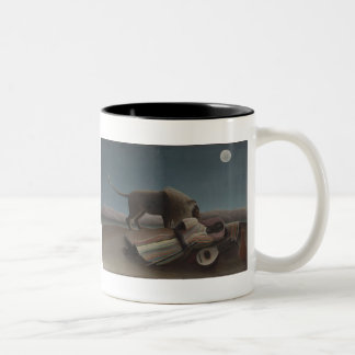 The Sleeping Gypsy by Henri Rousseau Two-Tone Coffee Mug