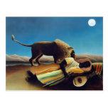 """""""The Sleeping Gypsy"""" by Henri Rousseau Postcard"""