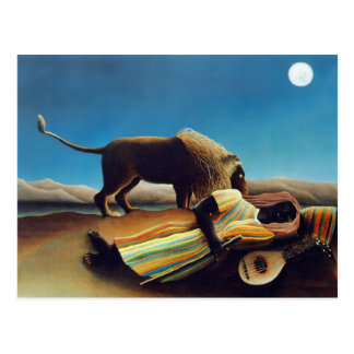"""The Sleeping Gypsy"" by Henri Rousseau Postcard"