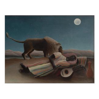 The Sleeping Gypsy by Henri Rousseau Postcard