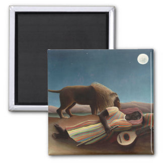 The Sleeping Gypsy, Henri Rousseau 2 Inch Square Magnet