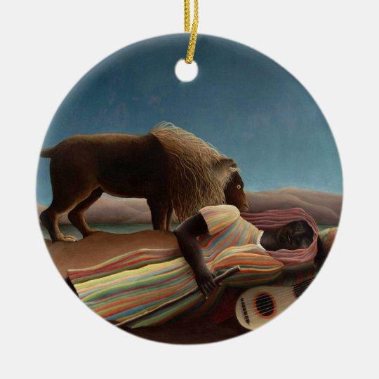 The Sleeping Gypsy, Henri Rousseau Ceramic Ornament