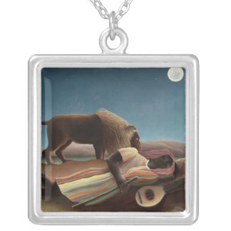 The Sleeping Gypsy, Henri Rousseau Personalized Necklace