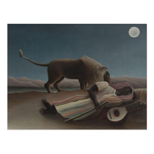 The Sleeping Gypsy Postcard
