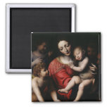 The sleeping Jesus 2 Inch Square Magnet