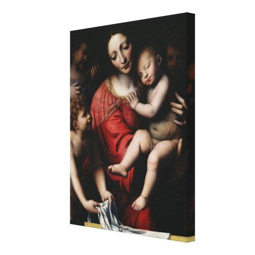 The sleeping Jesus Canvas Print