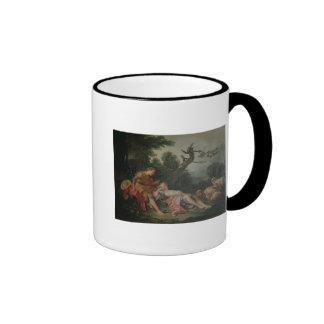 The Sleeping Shepherdess Ringer Coffee Mug