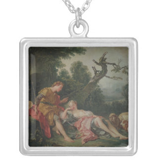 The Sleeping Shepherdess Silver Plated Necklace