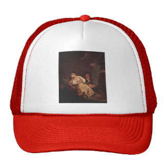 The sleeping woman by Pietro Longhi Hats