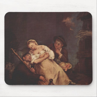 The sleeping woman by Pietro Longhi Mouse Pads