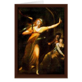 The Sleepwalking Lady Macbeth By Füssli Johann Hei Card