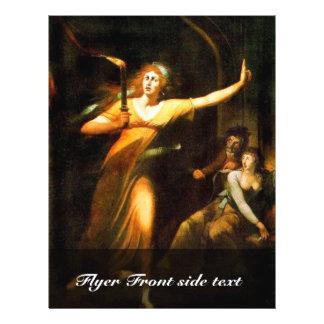 The Sleepwalking Lady Macbeth By Füssli Johann Hei Personalized Flyer