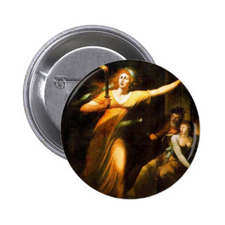 The Sleepwalking Lady Macbeth By Füssli Johann Hei Pinback Button