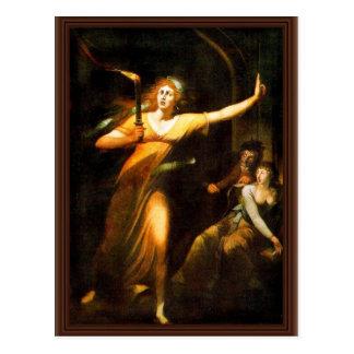 The Sleepwalking Lady Macbeth By Füssli Johann Hei Postcard