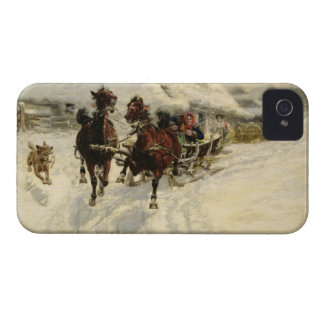The Sleigh Ride 1896 oil on canvas iPhone 4 Case-Mate Cases