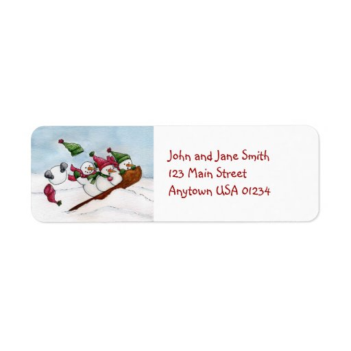 The Sleigh Ride Address Label