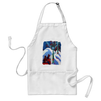 The Sleigh Ride by Ernst Ludwig Kirchner Adult Apron