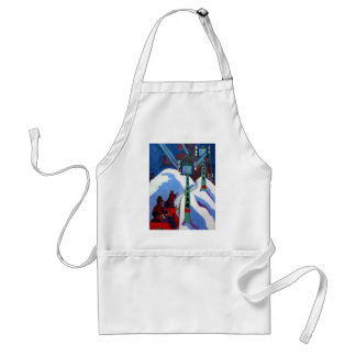 The Sleigh Ride by Ernst Ludwig Kirchner Aprons