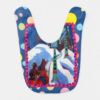 The Sleigh Ride by Ernst Ludwig Kirchner Baby Bib