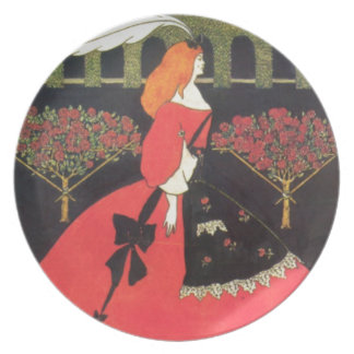 The Slippers of Cinderella by Aubrey Beardsley Party Plates
