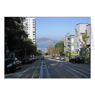 The sloping streets of San Francisco Card