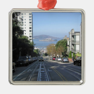 The sloping streets of San Francisco Ornaments
