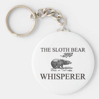 The Sloth Bear Whisperer Basic Round Button Keychain