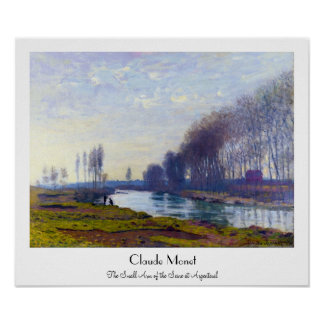 The Small Arm of the Seine at Argenteuil Poster