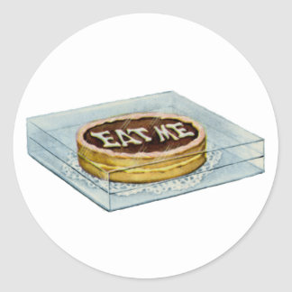 The Small Cake Said Eat Me, So Alice Did! Classic Round Sticker