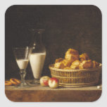 The Small Collation, or The Carafe of Orgeat Square Sticker
