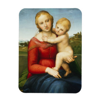The Small Cowper Madonna, c.1505 (oil on panel) Rectangular Photo Magnet