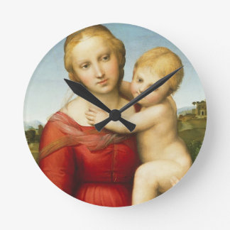 The Small Cowper Madonna, c.1505 (oil on panel) Round Clock