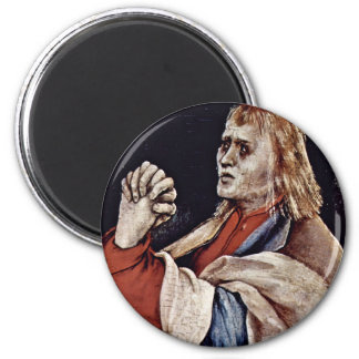 The Small Crucifixion: Christ On The Cross, Mary M Fridge Magnets