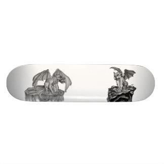 The small GOLEM - Gargoyle black and white Design Skateboard Deck