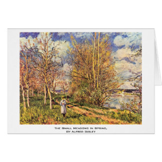 The Small Meadows In Spring,  By Alfred Sisley Cards