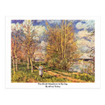 The Small Meadows In Spring,  By Alfred Sisley Postcard
