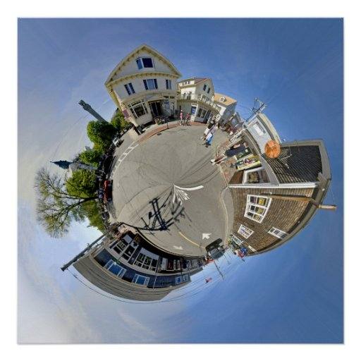 The Small World of Commercial St. Provincetown Print