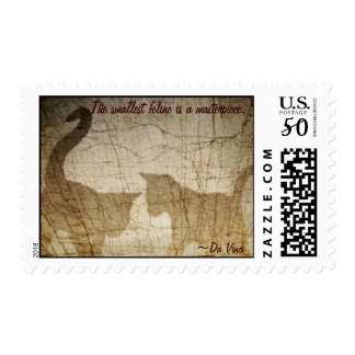The smallest feline is a masterpiece... postage