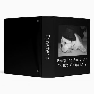 """The Smart One""...English Bulldog Puppy 3 Ring Binder"