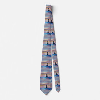 The Smell of Snow, Border Collie dog in winter Neck Tie