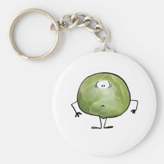 THE SMELLY SPROUT BASIC ROUND BUTTON KEYCHAIN